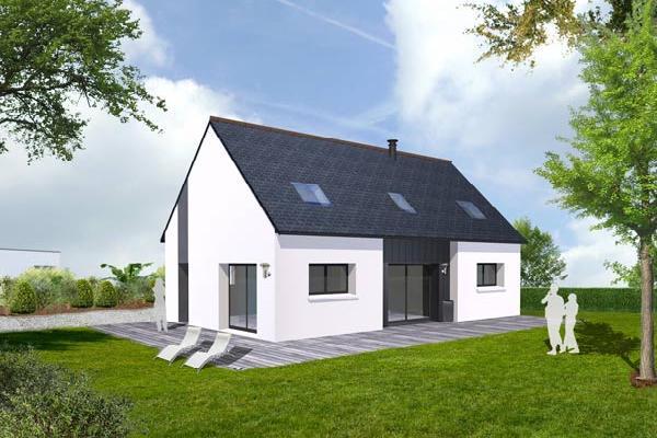 Maison rt terrain maison avec garage en l compose au rdc for Terrain plus maison