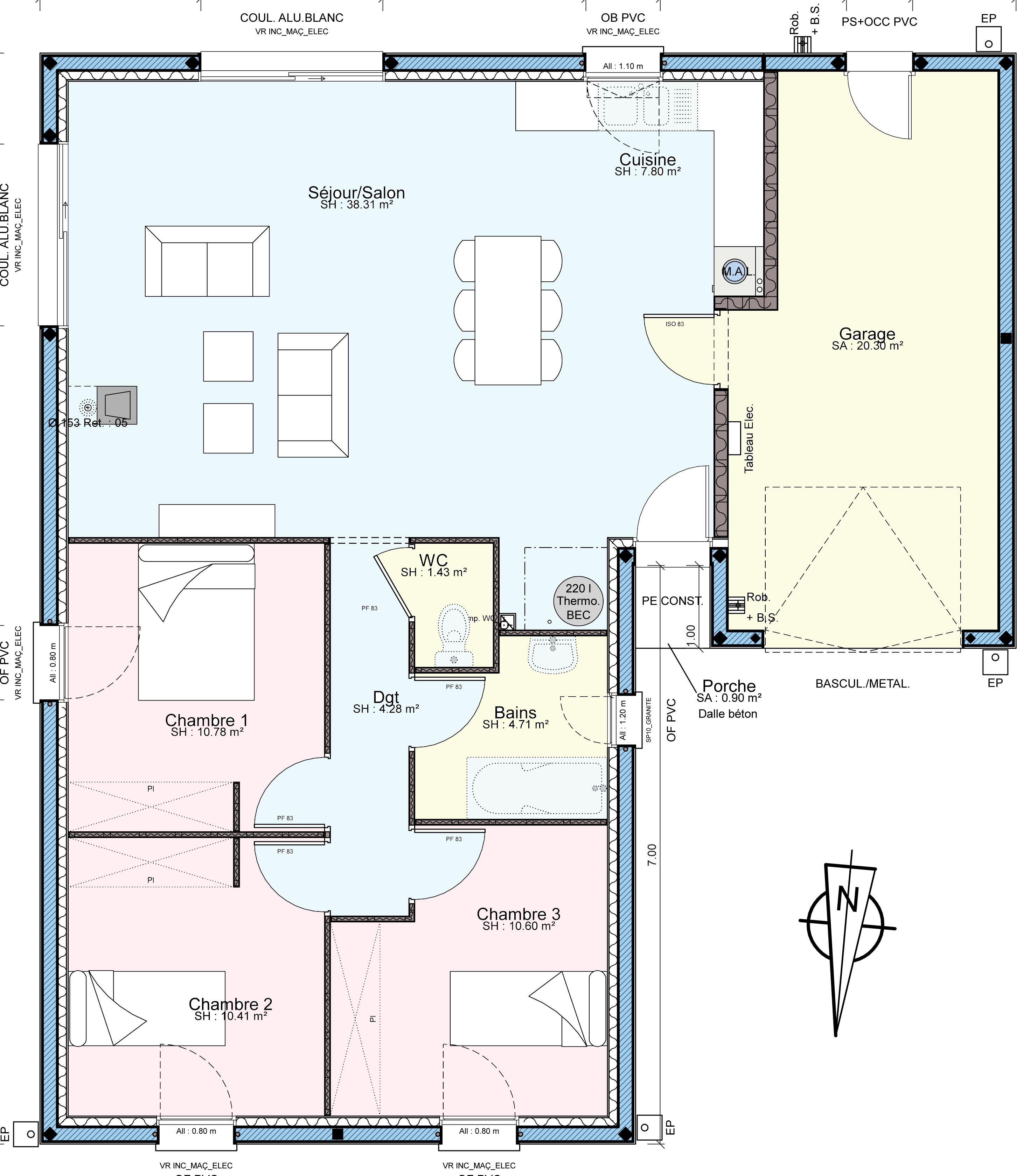 plan de maison 220 m